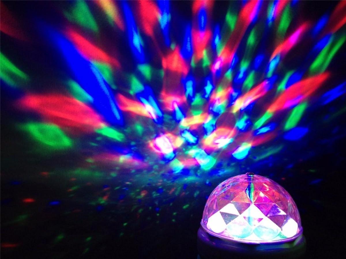 foco giratorio led fiesta efecto disco antro luces casa