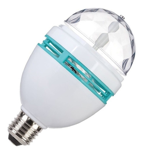 foco giratorio led rgb colores iluminación luz disco  /e