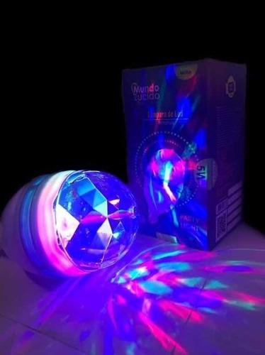 foco giratorio multicolor !! oferta fiesta, rgb, disco