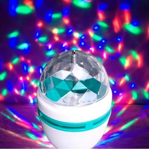 foco giratorio rgb discoteca luces sicodelicas disco fiesta