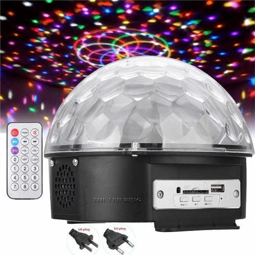 foco giratorio rgb ritmico luces led magic ball con base