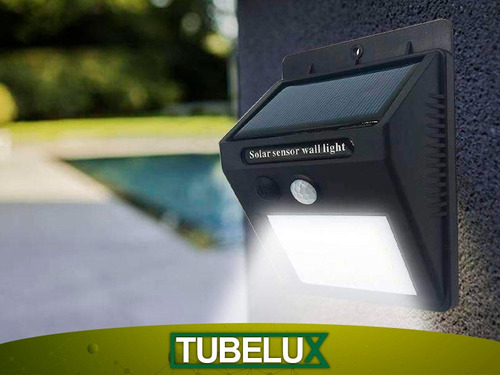 foco impermeable luz lámpara solar con sensor de movimiento