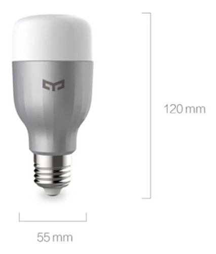 foco inteligente led xiaomi yeelight e27, versión de color