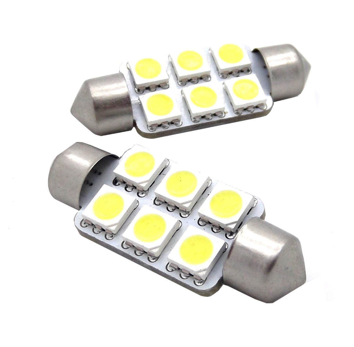 Foco interior 6 led para carro 30mm en mercado libre for Lamparas led interior