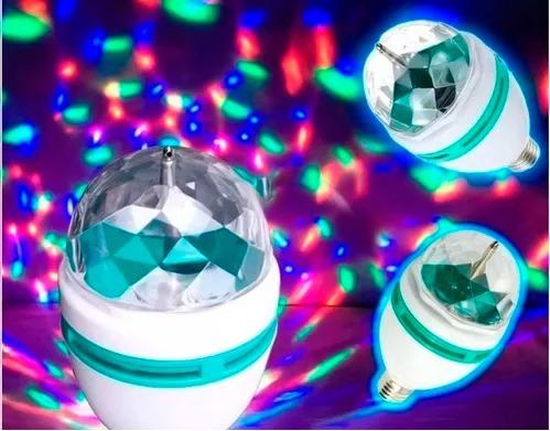 foco lampara disco led rgb giratorio estrobo fiesta rave bar