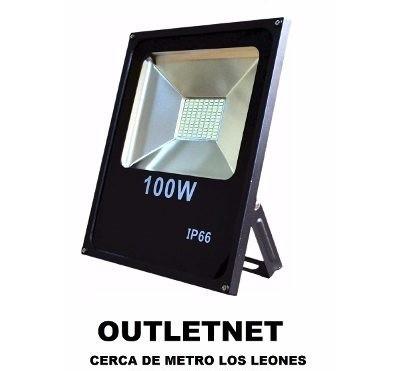 foco led 100w slim ultra plano ip65