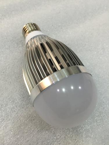 foco led 13 watt potente luz blanca bateria solar 12 volts