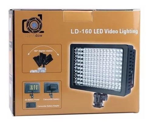 foco led 160 luces + 3 filtros nikon canon sony envío gratis