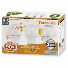 foco led 3 piezas 8.5w 800 lumenes tecnolite envio gratis