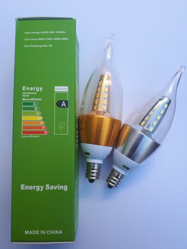 foco led 5 watts terminal e12, e14 para candil