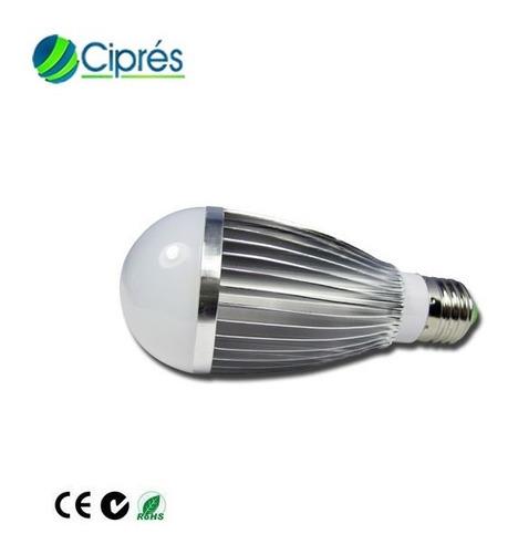 foco led 7 watts 840 lumenes a e27 120 lm/w 85-265 ac cipres