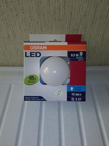 foco led clásico 8.5w = 60w /en 110v luz día/fría e27 osram