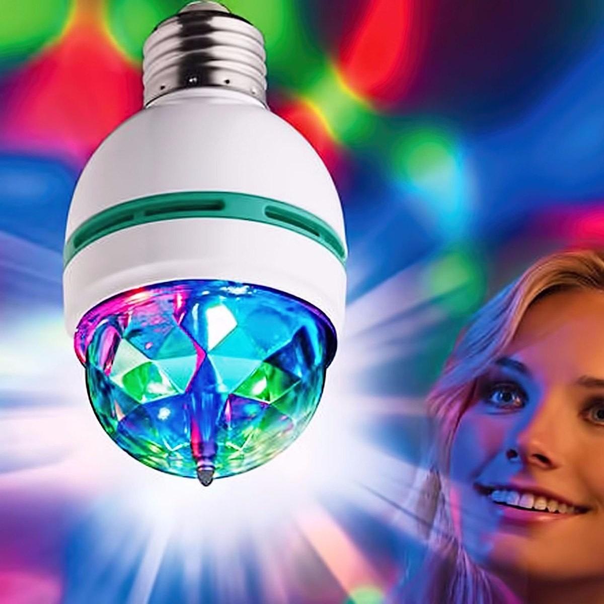 foco led colores giratorio luces sicodelicas disco fiesta