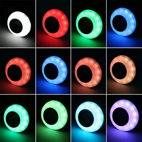 foco led de colores con parlante bluetooth
