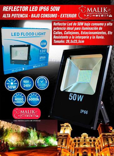 foco led extra plano multiled 50w 6000k 4000 lm / malik