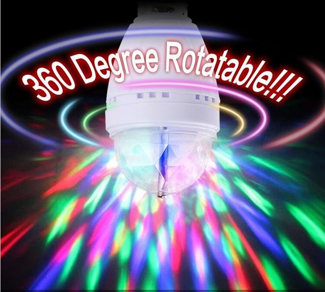 Foco led giratorio 360 ideal para discotecas bares fiestas s 9 00 en mercado libre - Focos led con luces de colores ...