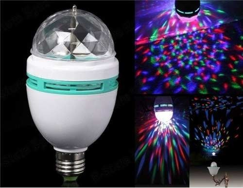 foco led giratorio 3w rgb potente , para fiestas año nuevo