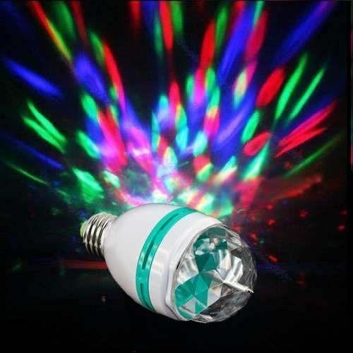 Foco led giratorio de colores para cumplea os y fiestas e27 s 16 00 en mercado libre - Focos led con luces de colores ...