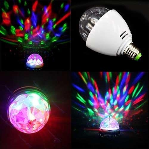 foco led giratorio grande, luces sicodelicas para fiestas!!