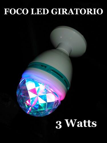 foco led giratorio rgb ¡el antro en tu propia casa! 3watts