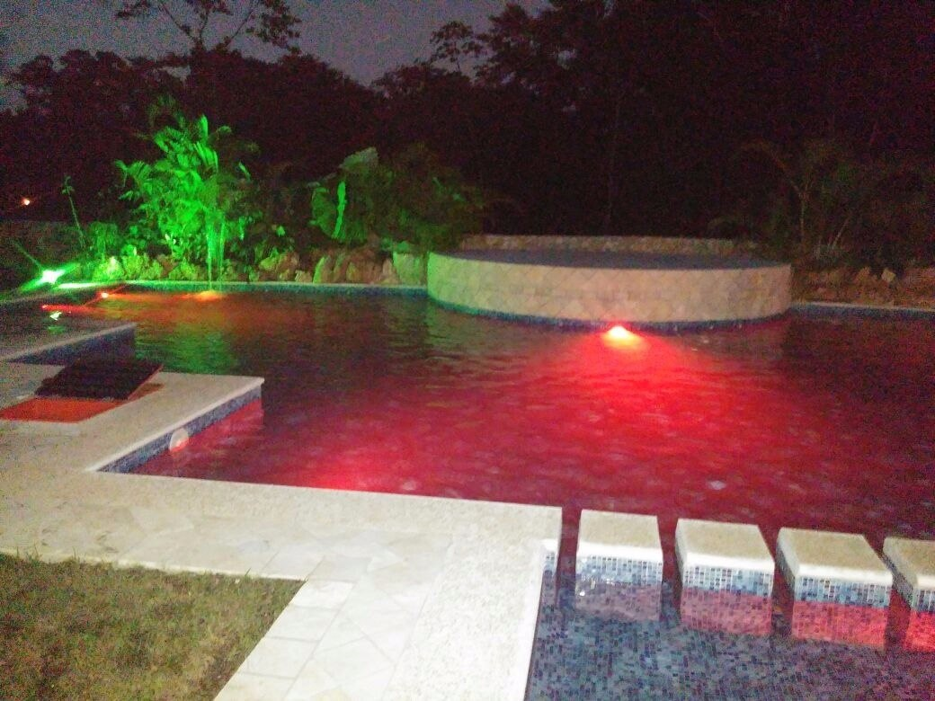 Foco led lampara albercas piscinas jacuzzi control touch for Focos led jardin