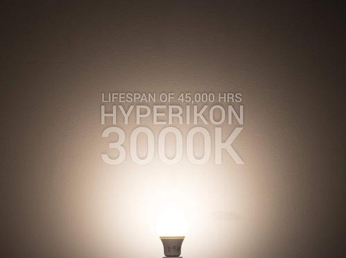 foco led no regulable hyperikon 9w 3000ka19 e26 e27 pack 6