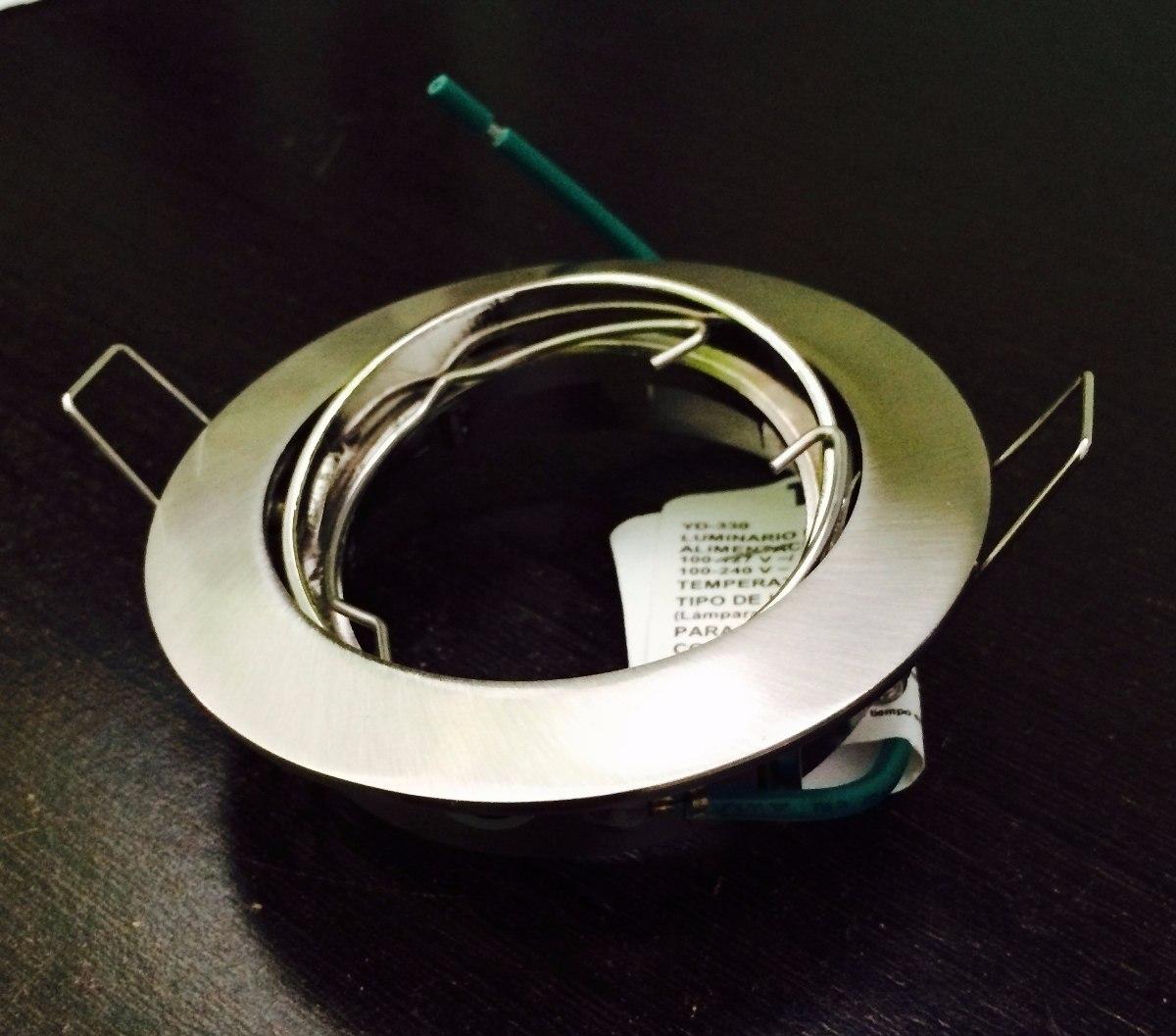 Spot base empotrable dirigible para foco mr16 led o - Focos led para cocina ...
