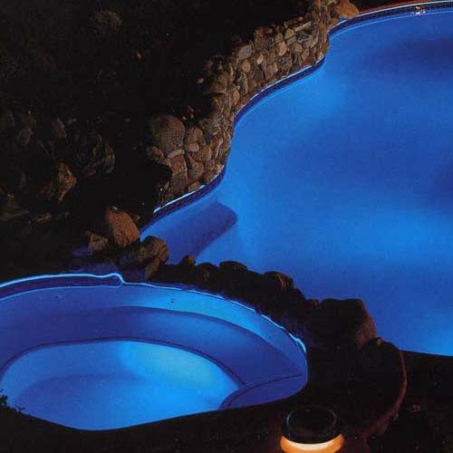 foco led piscina con control remoto 9 w color rgb color 24v