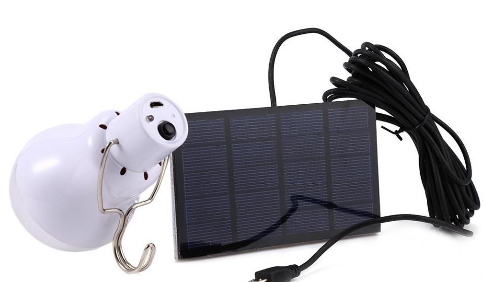 Foco led recargable con panel solar emergencias campismo for Foco led recargable
