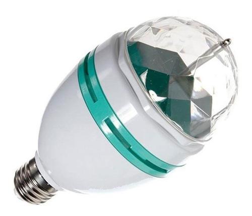 foco led rgb giratorio luz disco en casa crystal ball dj