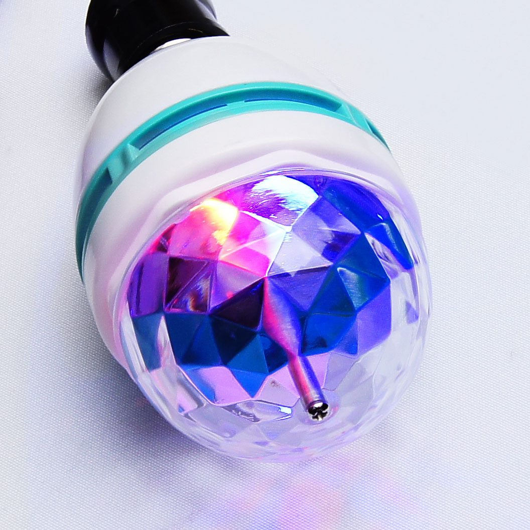 Foco led rgb para luz disco entrada normal para socket for Focos led pequenos