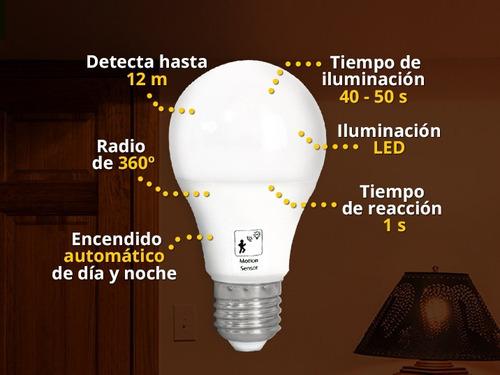 foco led sensor de movimiento dia y noche 10w ilumina 100w