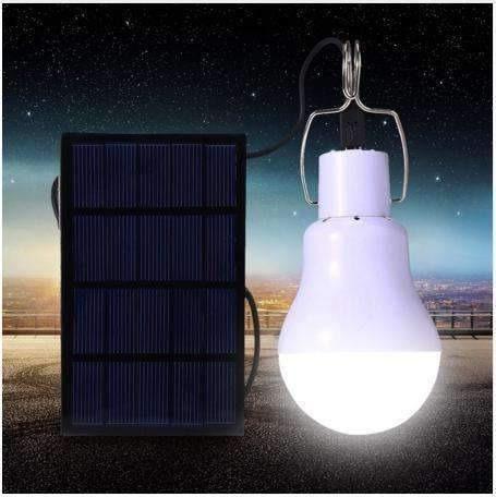 foco led solar recargable portatil camping blanco 3w gn-188