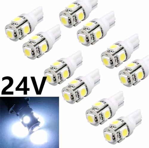 foco led t10 24v 5 smd para camiones por 20 unidades
