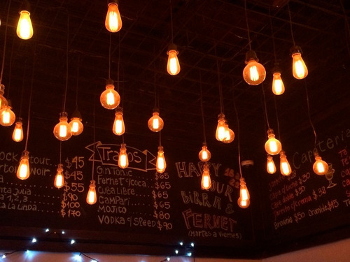 foco led vintage lampara filamento globo dim 8w = 75w
