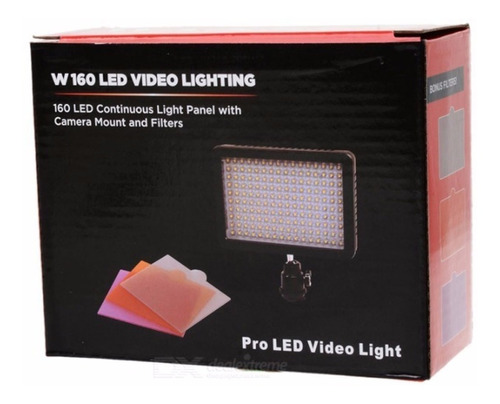 foco luz 160 led w160 para fotografía y video