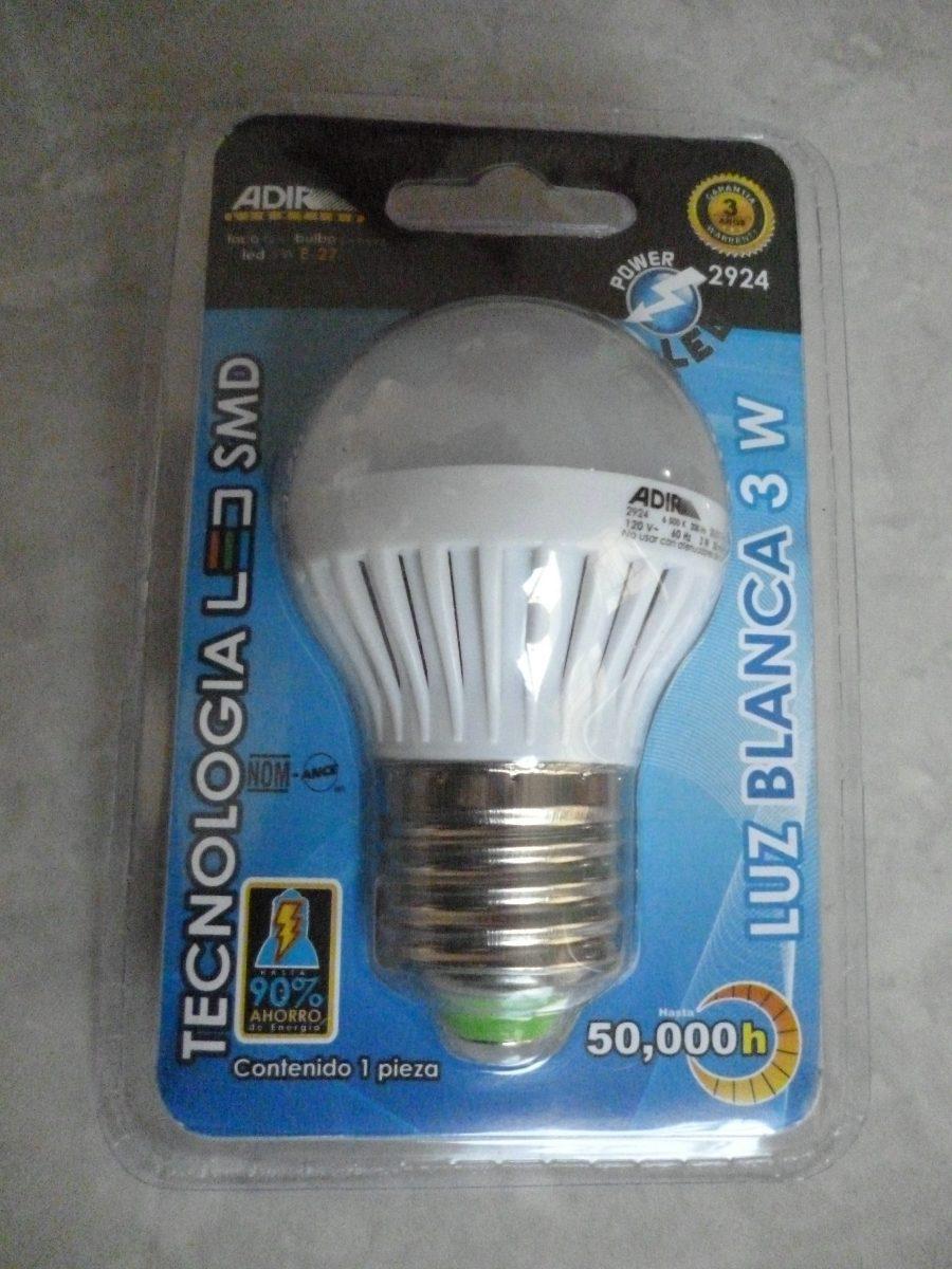 Foco luz led 3 w bulbo fr o c lido ahorrador ecol gico - Luz led casa ...
