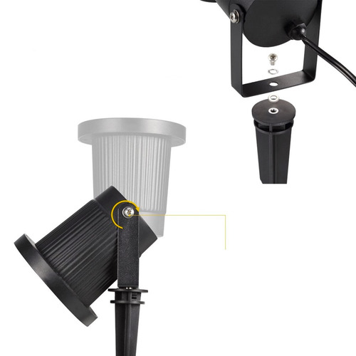 foco luz led proyector de navidad 4 leds con diseño exterior