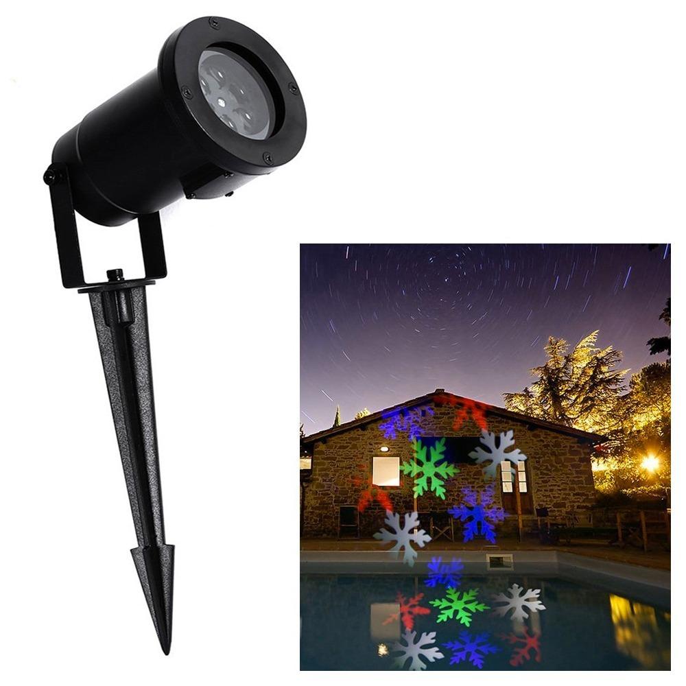 8c6d4a33557 Foco Luz Led Proyector De Navidad 6 Leds Con Diseño Exterior ...