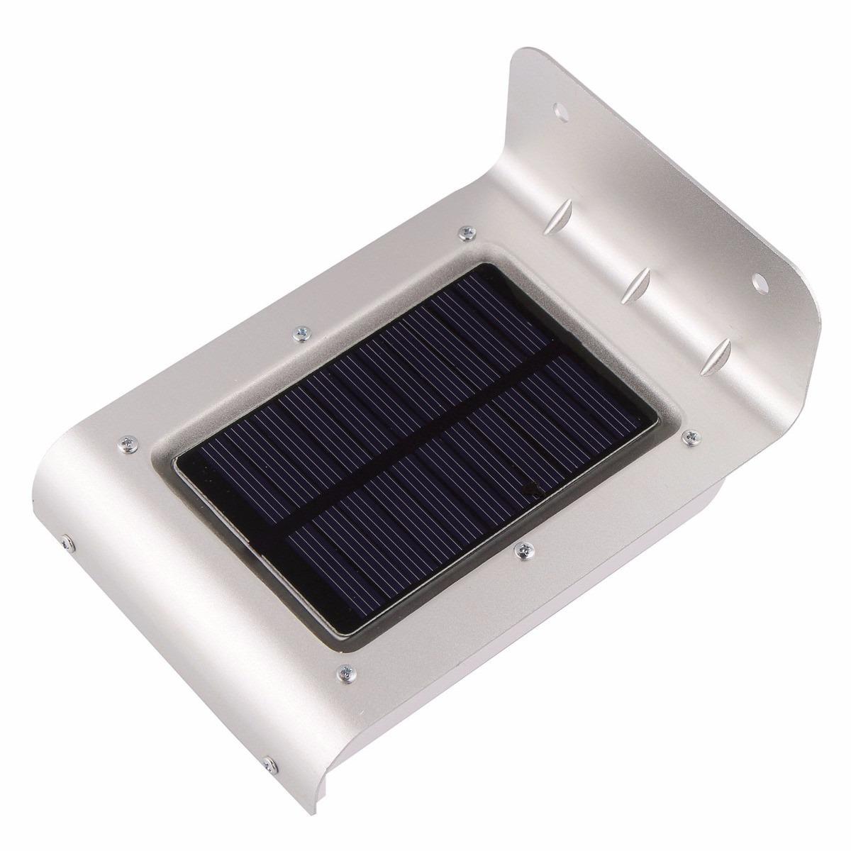 Foco luz solar 16 leds sensor de luz y movimiento version - Focos led solares ...