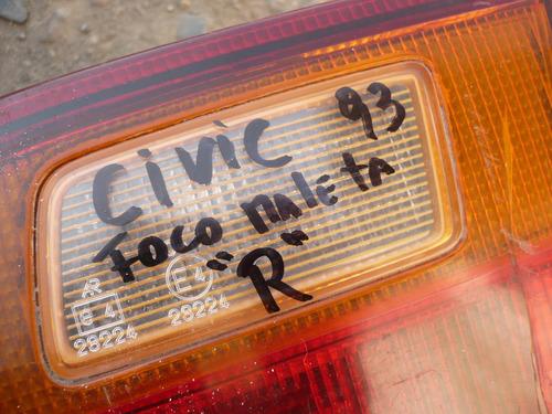 foco maleta civic sedan trs der c/daños- lea descripción