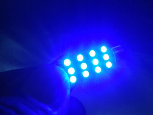 foco microled - 12 smd led 41mm azul a 12v para domo