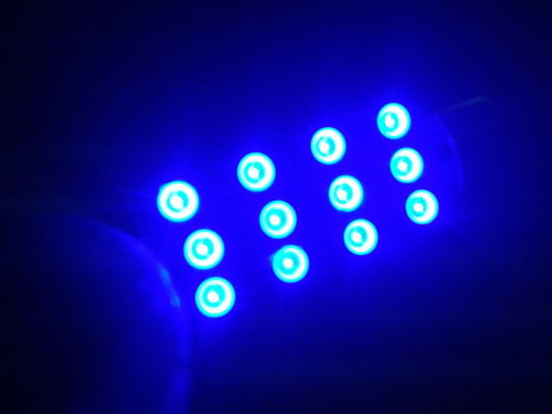 foco microled - 12 smd led 41mm azul a 12v para domo