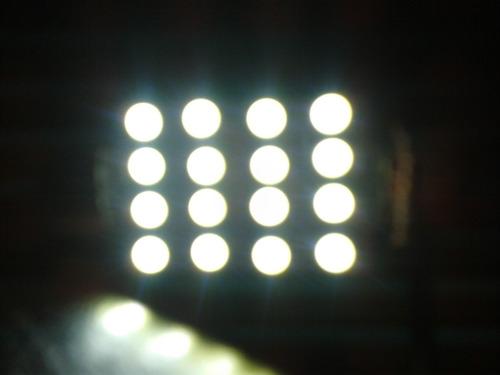 foco microled - 16 smd 3528 led 42mm blanco a 12v para domo