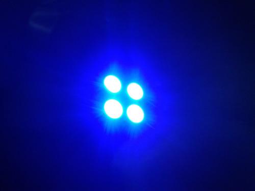 foco microled - 2 focos 4 smd led azul t10 194 168 a 12v