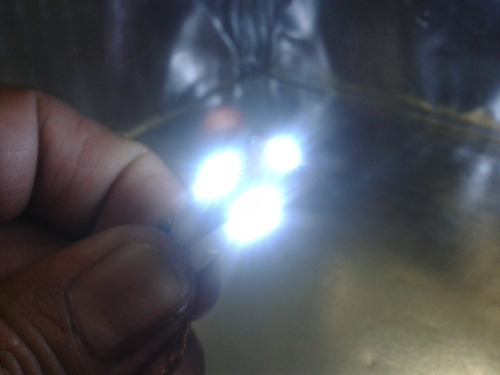 foco microled - 2 focos t10 5 smd 5050 led blanco a 12v