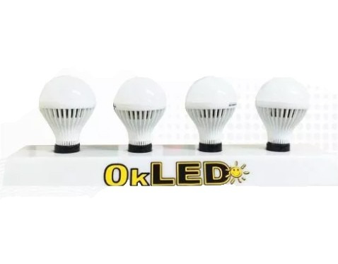 foco okled globo 9w rosca normal luz+natural ahorra +90% hm4