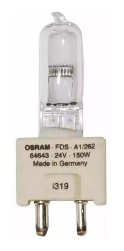 foco osram 64643 fds dze 24v 150w gy9.5 halogeno