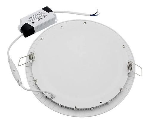 foco panel plafón led 18w embutido redondo luz frío / 003020