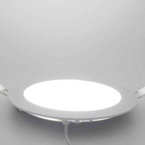 foco panel plafón led 18w embutido redondo luz frío / 3020